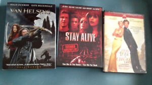 DVD movies. Van Helsing, Stay Alive & How to Lose a Guy in 10...
