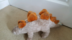 3 Soft Toy Dinosaurs