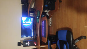 Asus G11 gaming setup with desk.