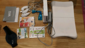 Wii console + fit board