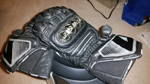 Dainese carbon cover leather gauntlet gloves