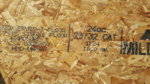 """3/4"""" Tongue & Groove Oriented Strand Board (OSB)"""