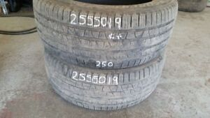 Pair of 2 Pirelli Scorpion Verde AS 255/50R19 tires (65% tread l
