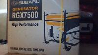 SUBARU GENERATOR RGX7500 for 1200$