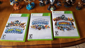 Skylanders Characters from Game 1,2 &3 plus DVD Games XBOX 360