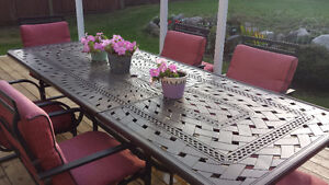 Beautiful patio dining set, priced to sell