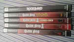 Bundle pack guitar hero - rock band pour PS2