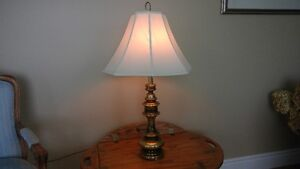 Three Matching Brass Table Lamps