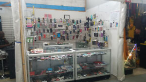 Closing Sale : Cell Shop booth counter and accessories for sale