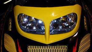 Yellow Headlight bezel for ZX chassis sleds