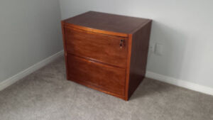 Large, Solid Wood,  Double Drawer Filing Cabinet