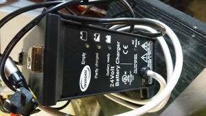 Battery charger for power wheel chair