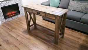 Rustic Desk (breadboard top) - Accent Furniture