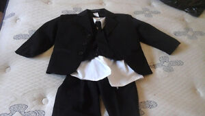 COBOURG area black/white little boys suit