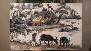 "Painting 12"" x 8"" - Traditional Vietnamese Art"