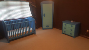 3 piece blue baby bedroom
