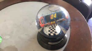 Jeff Gordon autographed snow globe.