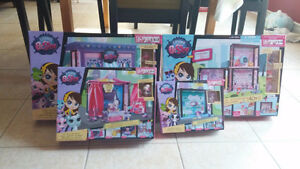 My Littlest Pet Shop - 4 Playsets Bundle - Brand new!
