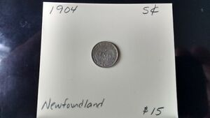 Newfoundland 5 cent pieces
