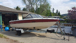 1978 Canventure ski boat with trailer