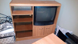 Free TV Stand - would work as well for garage shelving