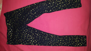 Size 4t/5 blue/gold sparkly tights euc