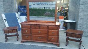 4 Piece Pine Dresser Set