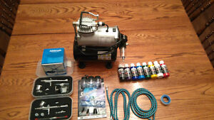NEW Complete airbrush set for sale, paint & cleaning kit Kingston Kingston Area image 2