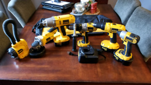 6 Dewalt 18v tools great condition.