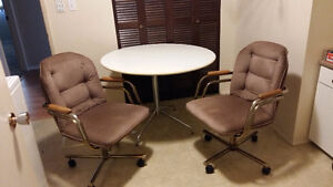 office table and two chairs
