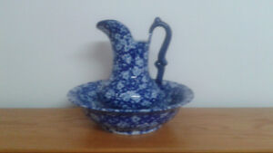 antique jug and water basin