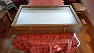 Antique Large Solid Wood Display Cases