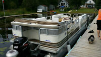 24 FT PONTOON BOAT NEW ENGINE AND TRAILER