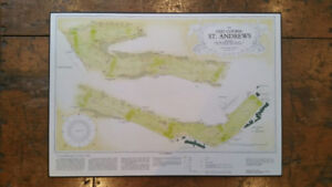 Map of the Old Course at St. Andrews