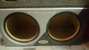 Clarion dual 12inch sub box ported