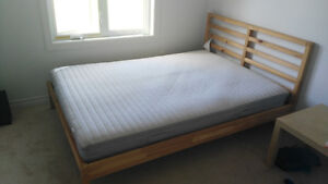 queen size bed frame and mattress for sell Gatineau Ottawa / Gatineau Area image 1
