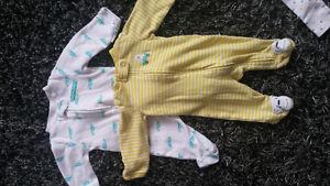 EUC Newborn Sleepers & Outfits