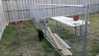 24' chain link fence with gate