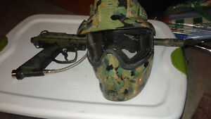 Used paintball equipment