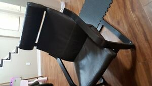 LIKE NEW IKEA POANG LEATHER CHAIR DARK BROWN