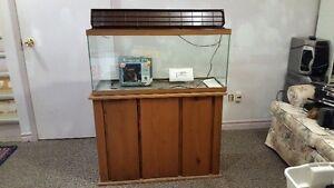 Brand New Aquarium Kit on Solid Pine Wood Stand