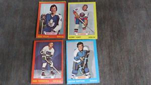 4- 1973-74 Topps NHL cards