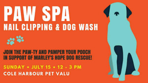 JULY 15TH: $10 Nail Trims & Pet Washes at Cole Harbour Pet Valu