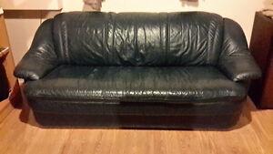 Fauteuil et chaise en cuir West Island Greater Montréal image 1
