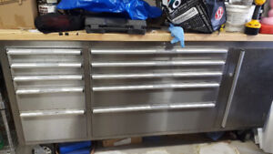 Stainless steel bench and  tool box