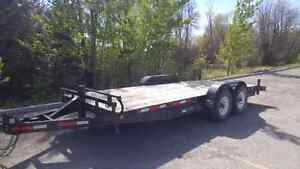 18 Feet Long Car Hauler/Flat Deck Trailer 2x7000 lb axles