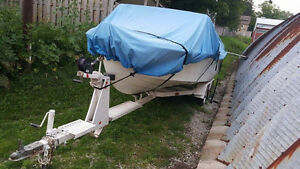 18' Larson with outboard motor and trailer