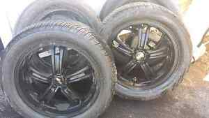 "20"" MSR rims with Yokohama Prada tires 95% tread 5x114.3"