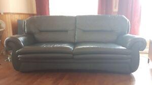Sofa en cuir vert