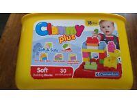 Clemmy Plus Soft Building Blocks 18m+ Clementoni